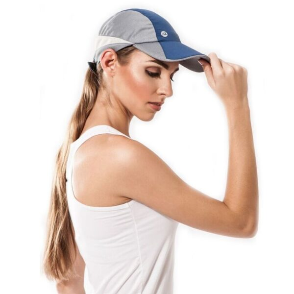Gorra de running azul unisex