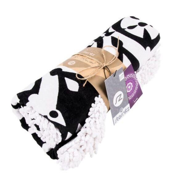 Gran toalla redonda estampado blanco y negro Sternitz oferta iblevel