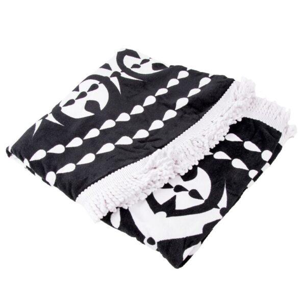 Amplia y absorbente toalla redonda familiar para playa y piscina