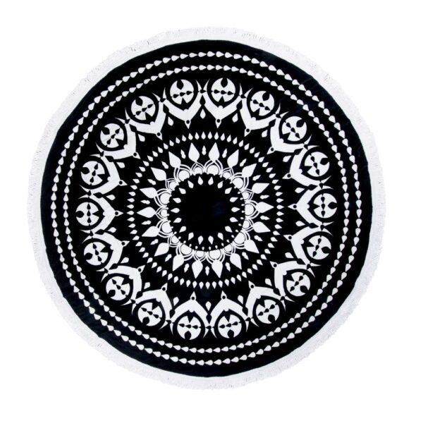 Preciosa y amplia toalla redonda blanco y negro Sternitz rebajas online iblevel